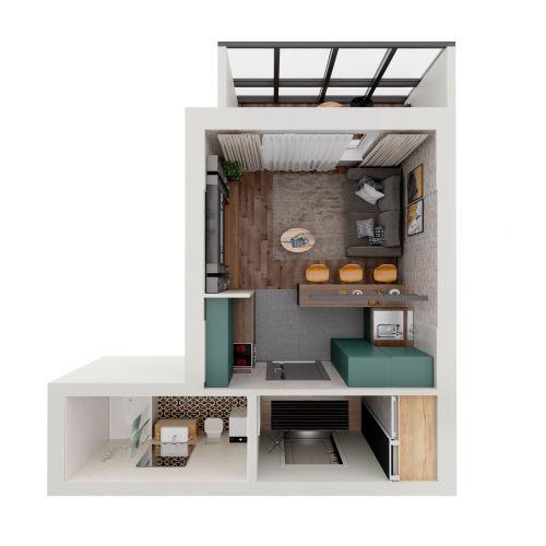 ЖК «Чкалов» - Квартира №76, Студия, 25.65м2