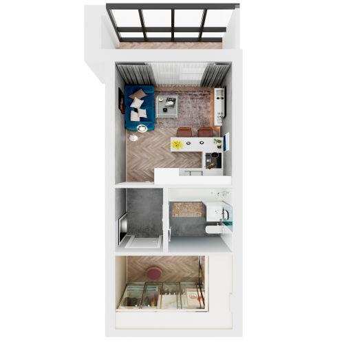 ЖК «Чкалов» - Квартира №143, Студия, 27.72м2