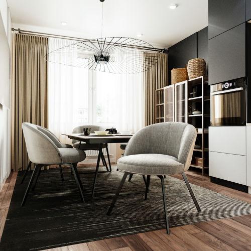 ЖК «Чкалов» - Квартира №135, 1-комнатная, 39.86м2
