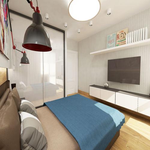 Жилой комплекс «Островский» - Квартира №427, 4-комнатная студия, 91.08м2