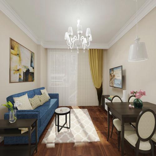 Жилой комплекс «Островский» - Квартира №220, 3-комнатная студия, 57.83м2