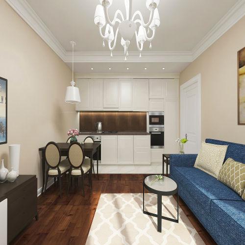 Жилой комплекс «Островский» - Квартира №16, 3-комнатная студия, 57.83м2