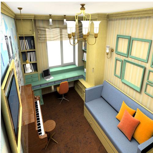 Жилой комплекс «Островский» - Квартира №170, 3-комнатная студия, 57.83м2