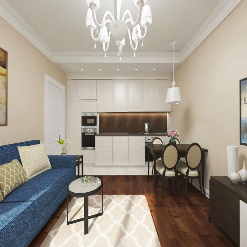 Жилой комплекс «Островский» - Квартира №194, 3-комнатная студия, 57.83м2