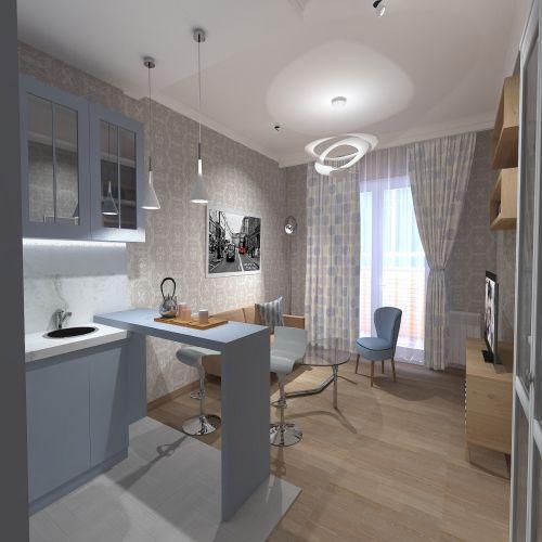 Жилой Комплекс «Калининский-2» - Квартира №15, 2-комнатная студия, 49.65м2
