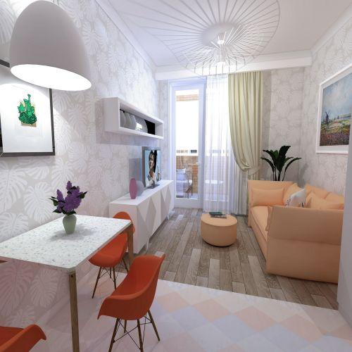 Жилой Комплекс «Калининский-2» - Квартира №129, 1-комнатная студия, 26.31м2
