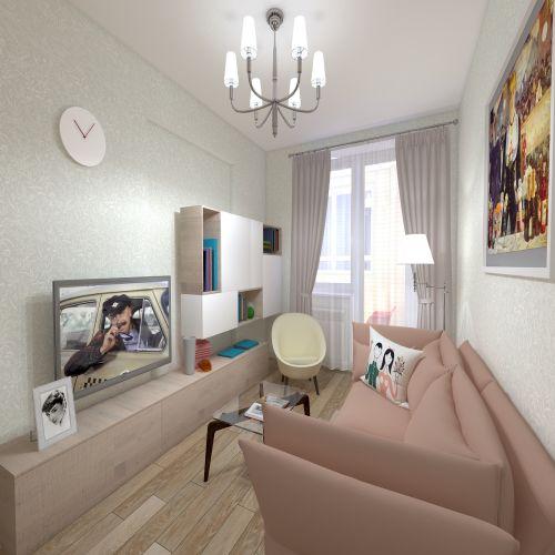 Жилой Комплекс «Калининский-2» - Квартира №130, 1-комнатная, 38.73м2