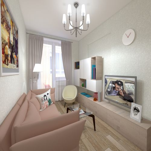 Жилой Комплекс «Калининский-2» - Квартира №54, 1-комнатная, 38.41м2