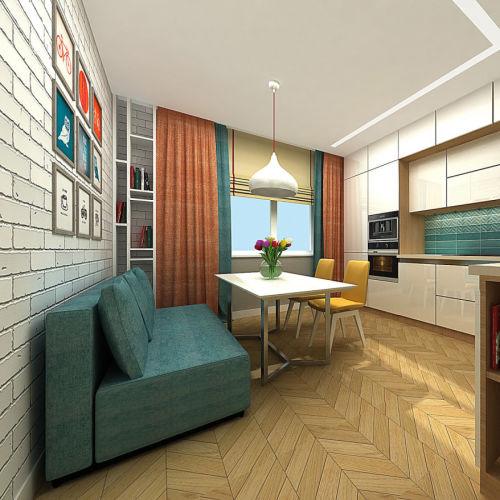 Жилой комплекс «Островский» - Квартира №42, 3-комнатная, 79.34м2